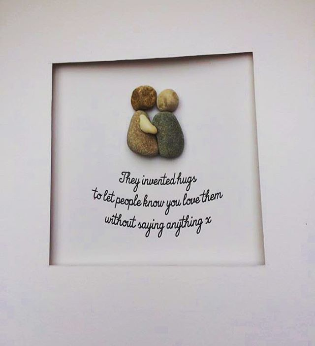 pebble art, gifts, family